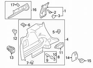 Ford Edge Hook  Retainer  Net   Rear  Upper   Left  Right