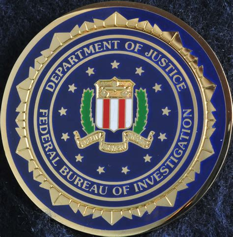 bureau du fbi us federal bureau of investigation fbi challengecoins ca