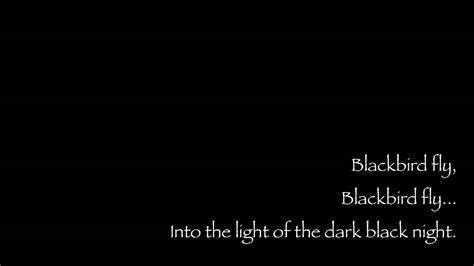 blackbird  beatles lyrics youtube