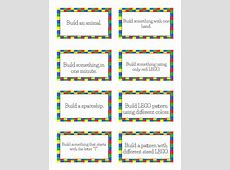 Free Printable LEGO Challenge Cards! Free Homeschool Deals