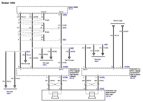 Need Diagram Shaker Audio System Color Codes