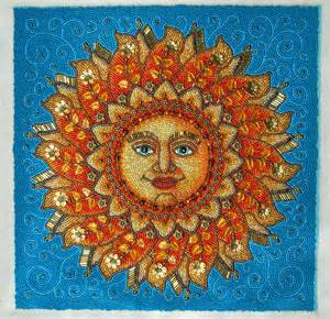 25%OFF SALE, Sun Face, Beaded Embroidery Picture