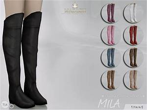 The Sims Resource: Madlen Mila Boots by MJ95 • Sims 4