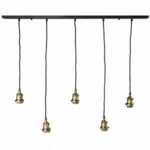 Suspension Maison Du Monde : suspension 5 ampoules en m tal noir et bronze murphy maisons du monde wanted ~ Preciouscoupons.com Idées de Décoration