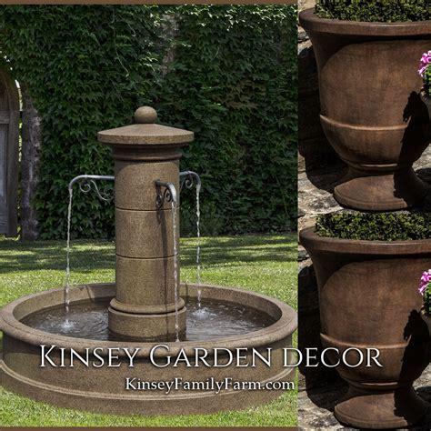 avignon outdoor water fountain planters set kinsey garden decor