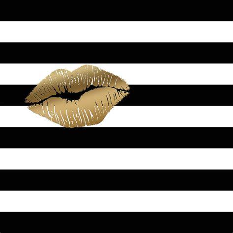 metallic gold black and white stripes painting by georgeta blanaru