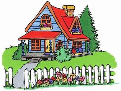 Homes Cartoon Clip Cottage Houses Cottages Party