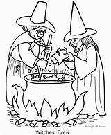 Coloring Witch Pages sketch template
