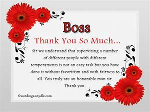 Thank You Note For A Gift From Boss Thank You Notes For Boss Wordings And Messages
