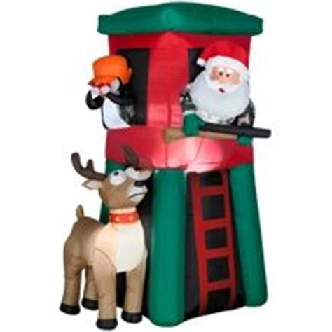 Santa Deer Stand Inflatable by Gemmy Inflatables Christmas On Pinterest Reindeer