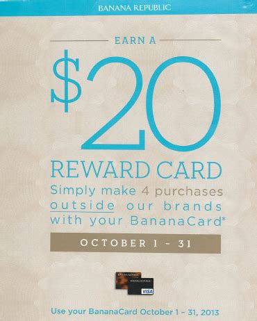 Simply shop online and add items to your shopping bag the only gap inc. Banana Republic Credit Card $20 Reward Bonus before October 31, 2013 - Credit Card Blogger