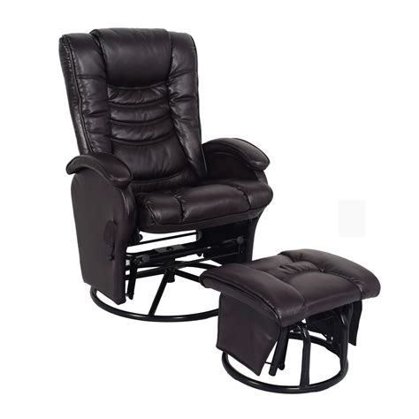 glider recliner with ottoman essential home glider recliner with ottoman