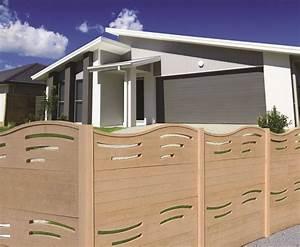 Cloture Beton Imitation Bois : clotures en panneaux de beton imitation bois portails ~ Dailycaller-alerts.com Idées de Décoration
