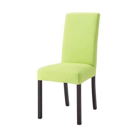 chaise verte housse de chaise en coton verte margaux maisons du monde