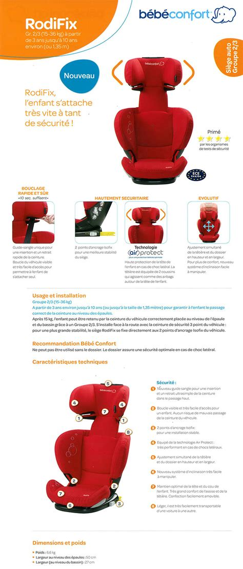 comparatif siege auto bebe siege auto rodifix air protect automobile garage siège