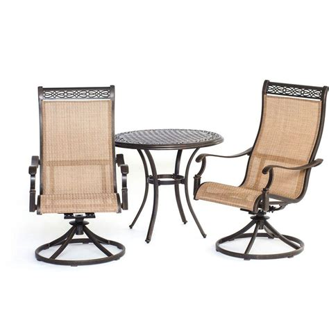 hanover manor 3 patio bistro set with sling