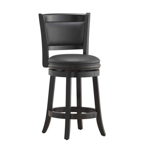 boraam augusta 24 quot counter height swivel black bar stool