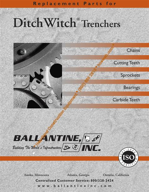 replacement parts  ditchwitch trenchers
