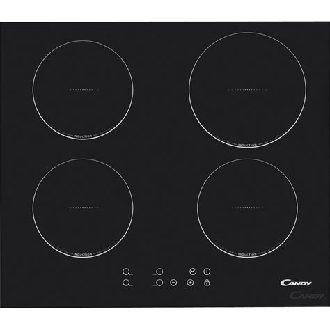 schott cuisine plaque induction 4 foyers noir ci640c leroy merlin