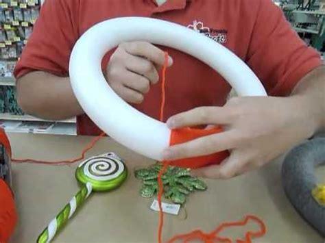 crankin  crafts ep yarn wrapped styrofoam wreath