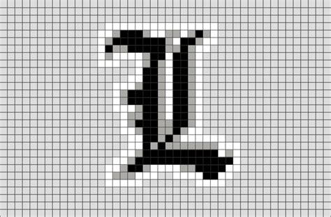 death note pixel art brik