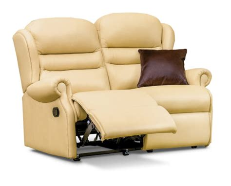Small 2 Seater Settees by Lynton Small Leather Reclining 2 Seater Settee Sherborne
