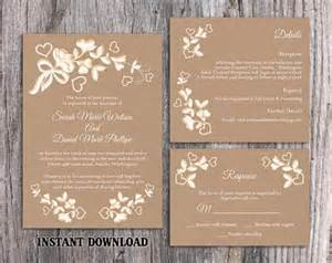 diy wedding invitations templates diy lace wedding invitation template set editable word file printable rustic wedding