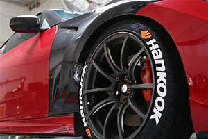 hankook with orange logo tire stickers With orange tire lettering