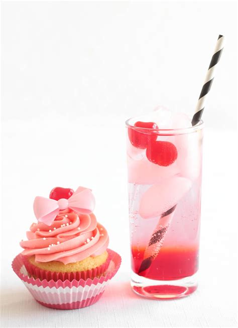 Shirley Temple Cocktailinspired Cupcakes  Sprinkle Bakes
