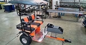 Club Car Custom Built Golf Cart Trailer Pull Behind Tag