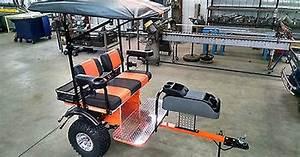 Club Car Custom Built Golf Cart Trailer Pull Behind Tag