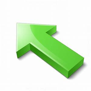 IconExperience » V-Collection » Arrow 2 Up Left Green Icon