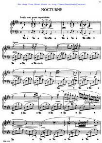 Chopin Nocturne C Sharp Minor Sheet Music