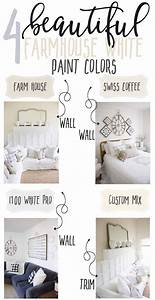 4 beautiful white farmhouse inspired paint colors the With best brand of paint for kitchen cabinets with barnyard animal stickers