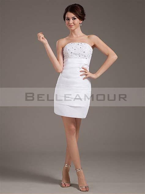 robe bustier blanche courte mariage robe de mari 233 e blanche bustier dentelle perles taffetas