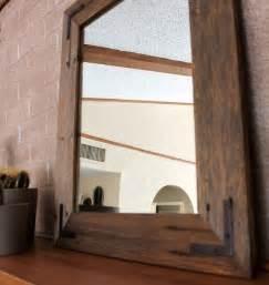 reclaimed wood mirror 18x24 bathroom mirror wood