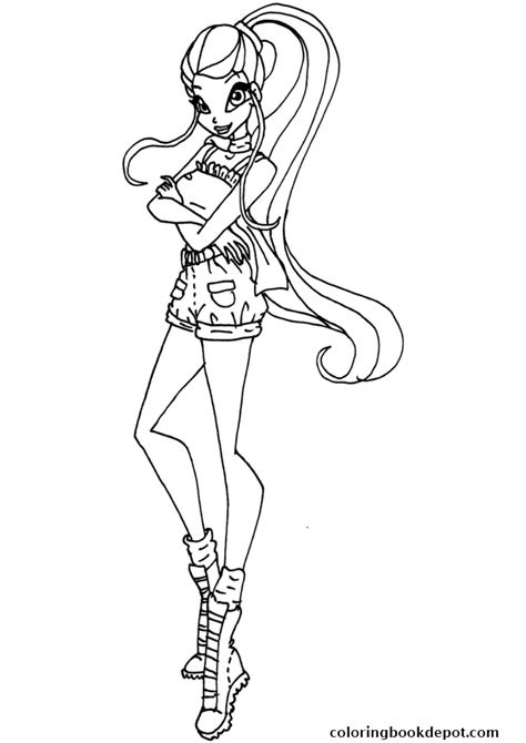winx da colorare stella safari stella winx club coloring pages
