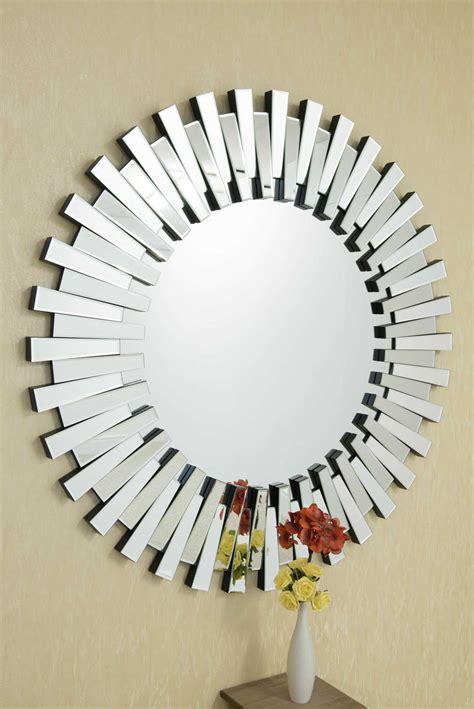 large modern  glass sunburst mirror xcm