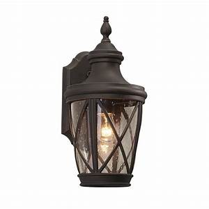 shop allen roth castine 1441 in h rubbed bronze medium With outdoor garage lights with camera