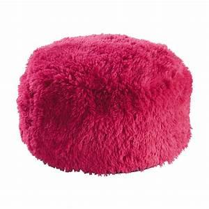 Pouf Fausse Fourrure : pouf en fausse fourrure rose d 60 cm misty maisons du monde ~ Teatrodelosmanantiales.com Idées de Décoration