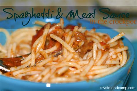 easy cuisine easy recipes spaghetti and sauce in the crockpot