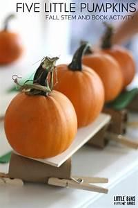 Five Little Pumpkins Stem Challenge For Kids