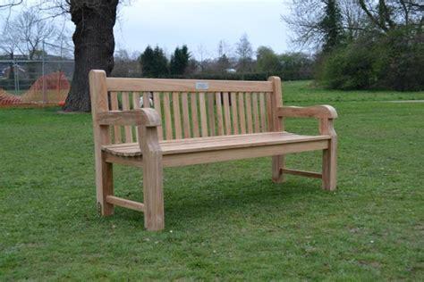 teak garden bench chunky