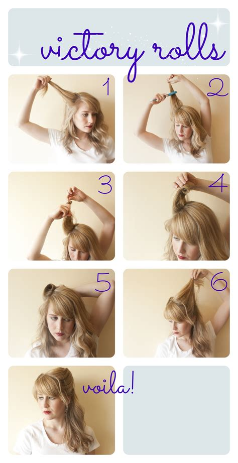 1940s Hairstyle Tutorial by How To Victory Rolls S World Hair Styles Hair
