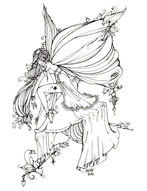 So beautiful Fairy coloring pages Fairy coloring