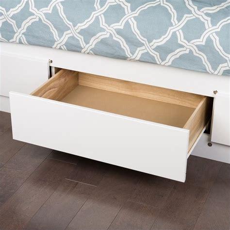 storage bed white prepac monterey white platform storage bed ebay