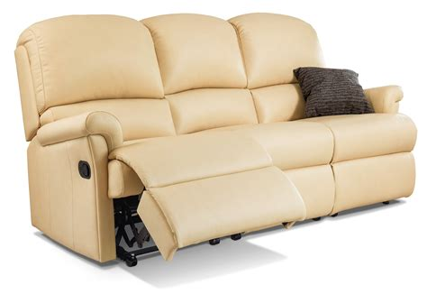 Reclining Settees by Nevada Standard Leather Reclining 3 Seater Settee