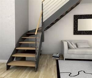 Escalier Metal Et Bois : 17 meilleures id es propos de escalier quart tournant ~ Dailycaller-alerts.com Idées de Décoration