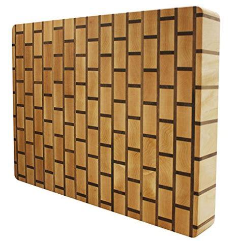 How About Kobi Blocks Brick Wall Maple Butcher Block Wood