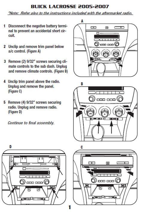 Buick Lacrosseinstallation Instructions